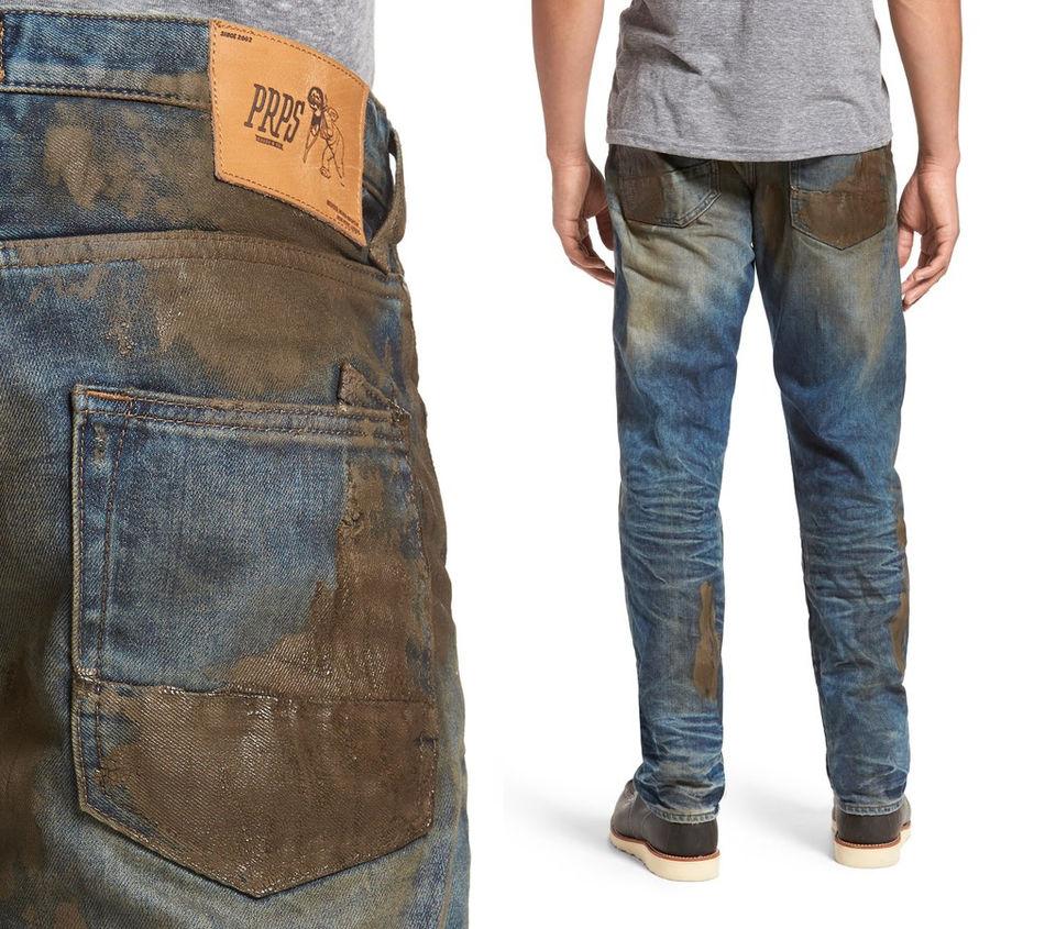 джинсы, грязь, грязные джинсы, мода, стиль,