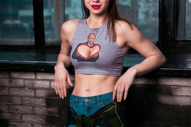 Путин и женская грудь, футболки с Путиным грудь, Project Set