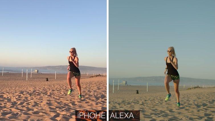 iPhone 7 Plus, Arri Alexa, разница
