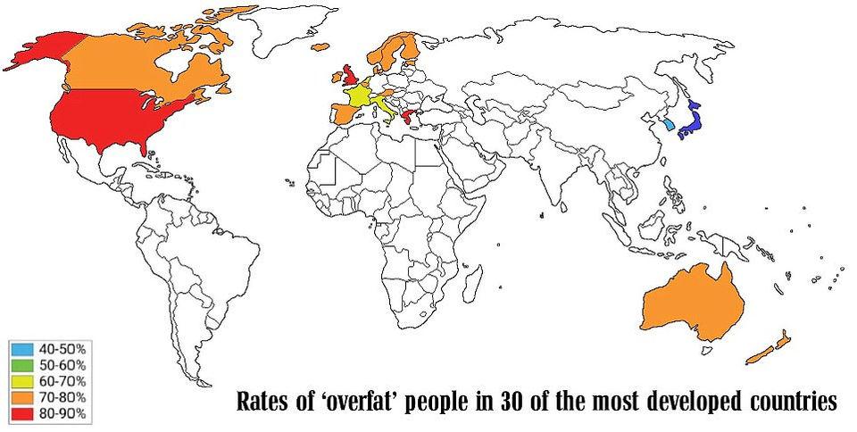Американки и британки самые толстые в мире, и имеют самый большой риск со здоровьем