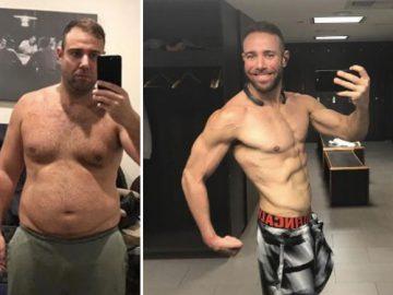 спор, до и после, худой, толстый,
