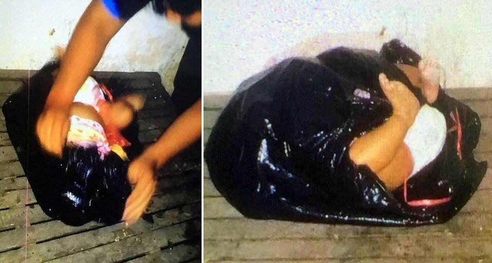 Женщина украла ребенка у подруги, засунула его в мешок и выбросила