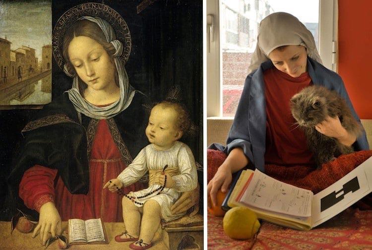 воссоздают картины, воссоздают картины знаменитых художников, пародии на картины